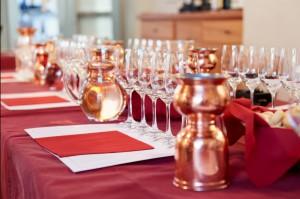 Professional winetasting event, limited focus